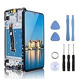 Yodoit Pantalla para Huawei P Smart 2019 LCD de Repuesto con marco reemplazo de pantalla Digitalizador Táctil Asamblea 6.2' Negro Kit de Herramientas de Reparación