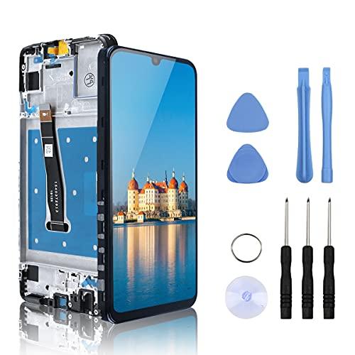 Yodoit Display per Huawei P Smart 2019 con Telaio Schermo LCD Nero, Touch Digitizer Vetro Sostituzione 6,21 Pollici di Ricambio con Kit di Riparazione