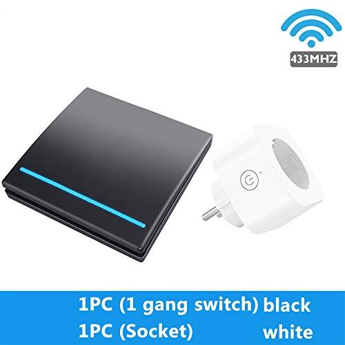 YHSM Home Smart Wireless Wall Power Outlet Control Remoto Decontrol Europeo Regla Enchufe Key Switch Light 10A No WiFi