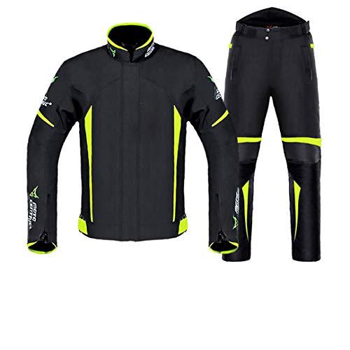 Chaqueta de Motocicleta Impermeable Chaqueta de Montar a Caballo de Invierno Armadura de carrocería Equipo de protección de Motocross de Motocross Green Suit XXL