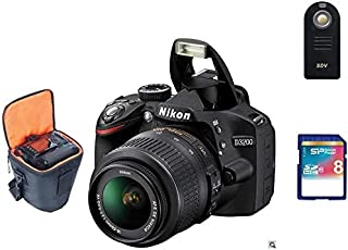 نيكون D3200 (24.2 ميجابيكسل, كاميرا إس إل آر (SLR), اسود)