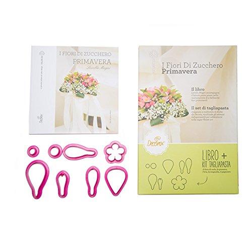 Decora 0803044 Libro Primavera con Kit 8 Tagliapasta, Plastica, Viola