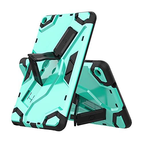 ZHIWEI Tablet PC Bag Custodia per Tablet per Samsung Galaxy Tab A 8.0 2019 (P205   P200), TPU + PC Cover Protettivo Multifunzione Antiurto con Manico Pieghevole Kickstand (Color : Green)