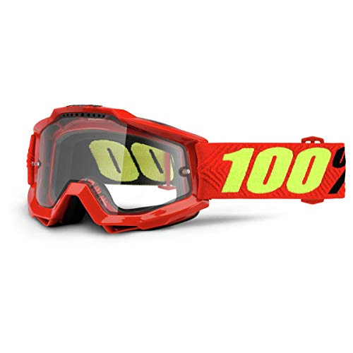 Sconosciuto 100% Accuri Enduro Clear Dual Lens Motocross/Cycling Goggles, Saarinen, taglia unica