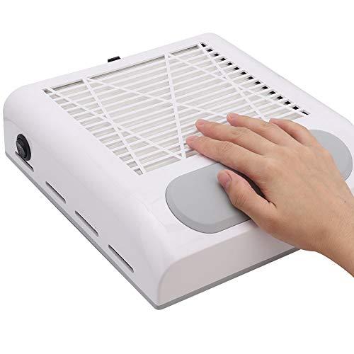 80W Nagel Staubabsauger Staub Collector Maschine Nagelstudio Staubsauger, Nagel Staubabsaugung für UV Gel Nail Staubabsaugung Nail Dust Collector Nail Art Maniküre(Weiß)