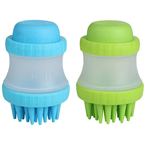 NVTED 2PCS Pet Dog Cat Bath & Massage Brush, Pet...