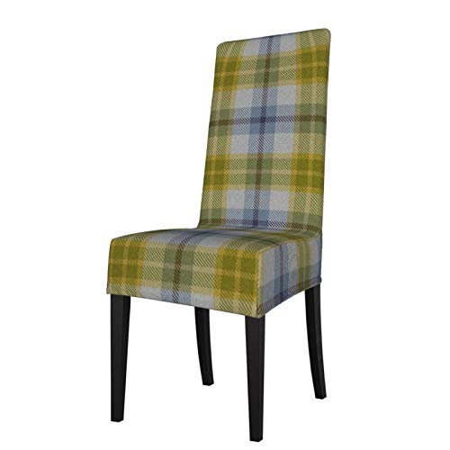 Uliykon Funda elástica para silla de comedor, diseño de cuadros de elastano, elástico, extraíble, lavable, para comedor, hogar, cocina, hotel, ceremonia, fiesta