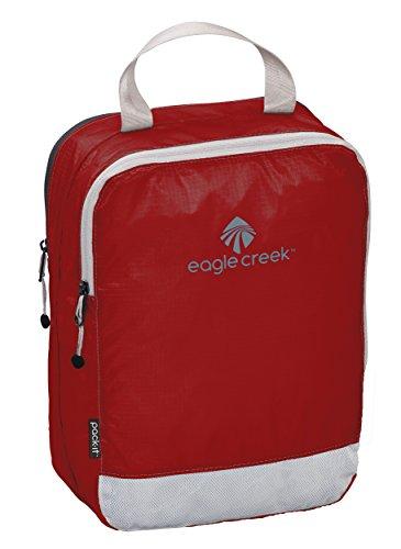 Eagle Creek Packtasche Pack-It Specter Clean Dirty Cube Small platzsparender Wäschesack für die Reise Kofferorganizer, 26 cm, 5 l, rot/Volcano rot