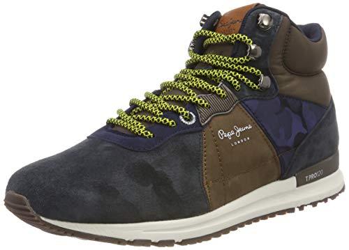 Pepe Jeans London Herren Tinker PRO-Boot Hohe Sneaker, Blau (Navy 595), 44 EU