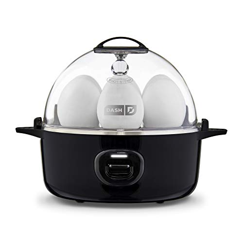 DASH Express Electric Egg Cooker 7 Capacity for Hard Boiled, Poached, Scrambled, or Omelets, with Auto Shut Off Feature, 360-Watt, Black