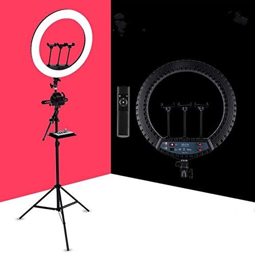 CBG HQ-21N 21 Pulgadas 52.5 cm Anillo LED Vlogging FOTURY Lights Kits con Control Remoto Y PONSTRIENTE DE TELÉFONO Y Montaje DE TRIBONO 2.1M, UE-Plug