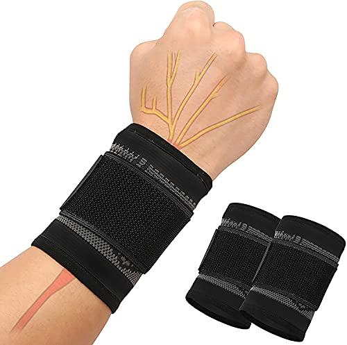 SUPRBIRD Handgelenkstütze, Handgelenk Bandagen, Handgelenkband, Handbandage Rechts und Links, Handgelenkbandage Fitness mit Klettverschluss, Atmungsaktivem Handgelenk Karpaltunnelsyndrom Verstauchung