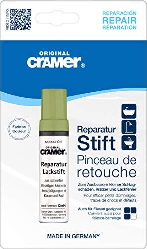 Cramer 15740DE Reparatur-Lackstift Email, Acryl, Keramik, moosgrün - Sanitärlack zum Ausbessern kleinerer Schäden an Badewannen, Duschwannen, Waschbecken und Fliesen