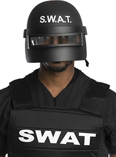 Funidelia | Casco SWAT antidisturbios para Hombre y Mujer Guardia, Agente, FBI, Profesiones - Negro, Accesorio para Disfraz