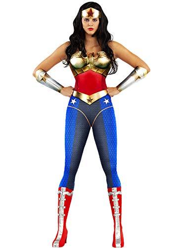 Funidelia | Costume di Wonder Woman - Injustice Ufficiale per Donna Taglia M ▶ Supereroi, DC Comics, Lega della Giustizia