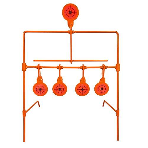 Highwild Air Gun Resetting Target Auto Reset Steel Target Rated for 22 Caliber  Neon Orange