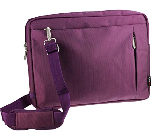 Navitech Purple Premium Messenger/Carry Bag Compatible with The Lenovo 300e 11.6 Inch Chromebook