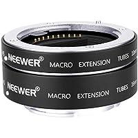 Neewer Tubo Extensión Macro Enfoque Automático AF Metal Set 10mm, 16mm para Sony NEX E-Mount Camara como a9 a7 a7II a7III a7RIII a7RII a7SII a6000 a6300 a6500