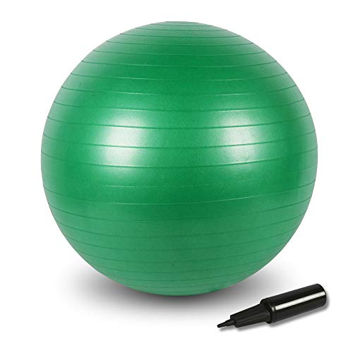 BIGTREE Gymnastikball Anti-Burst Sitzball für Yoga Exercise Fitness Yoga Core (Grün, 75cm)