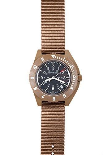 Marathon Watch WW194013DT-NGM Navigator Swiss Made Military Issue Pilot's Watch. ETA F06 Movement, Date and Tritium, (41mm, Desert Tan, No Government Markings)