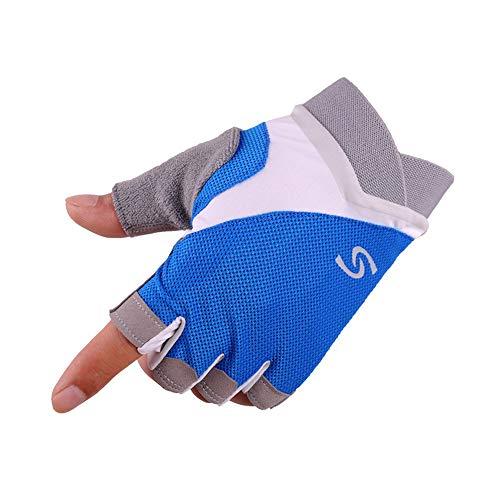 CAOCK Herren- und Damen-Halbfingerhandschuhe Outdoor-Vier-Jahreszeiten-Sport Mountainbike-Halbfinger-Anti-Seismic-Handschuhe