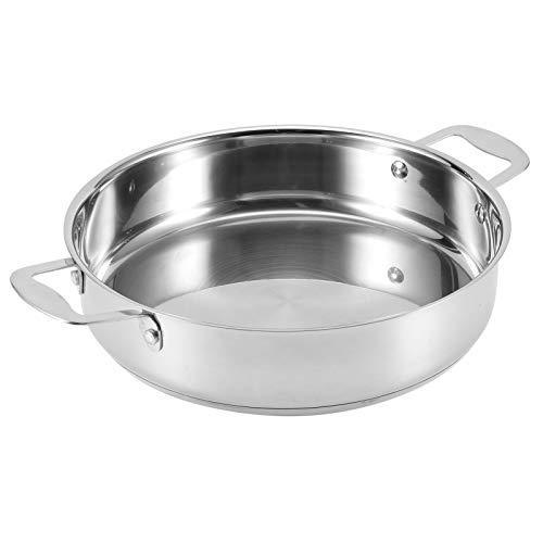Oumefar Sartén Antiadherente Multiusos sin Recubrimiento de Stuffy Pan para el hogar para Estufa de Gas