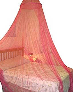NewSoul1us 7.9ft Tassel Dome Bed Canopy Mosquito Net for Single to King Size Beds tassel round white