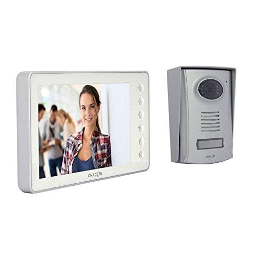 Chacon 34805 - Videoteléfono de 4 hilos, blanco, 7 pulgadas