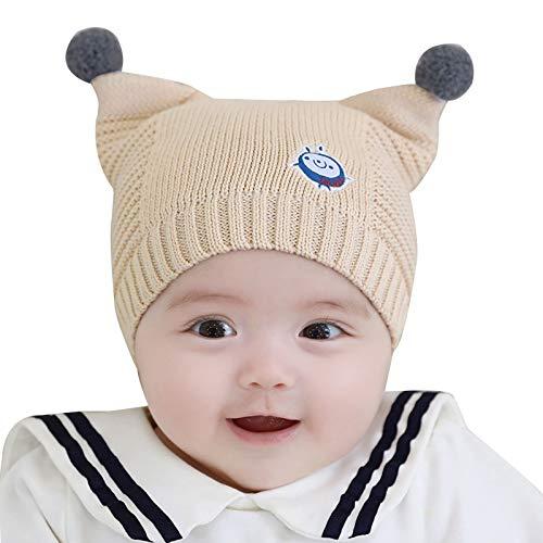 Folding Gorro de gorro para bebé cálido gorro para fotos para niños pequeños (color: beige)