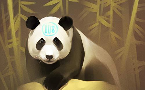 n-a DIY Malerei von Zahlen Landschaft Erwachsene Kinder Rahmenlose Ölgemälde Set Home Dekorationen Panda Art Bambus Wallpaper Hintergrund