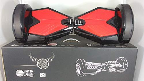 United Trade Elektrische scooter, elektrisch, zelfbalancerend, overboard, balance scooter, skateboard met LED-lampen en bluetoothth.8 inch, zwart met UL 2272-certificering, geschenkverpakking