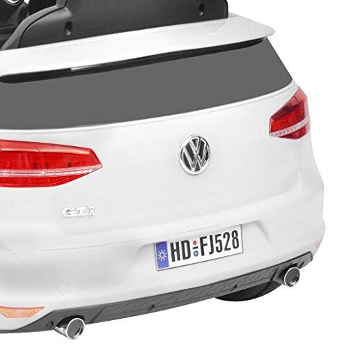 RC Auto kaufen Kinderauto Bild 3: SENLUOWX Kinderauto Elektroauto VW Golf GTI 7 Weiß 12 V Kinderfahrzeug Kinderauto mit Fernbedienung*