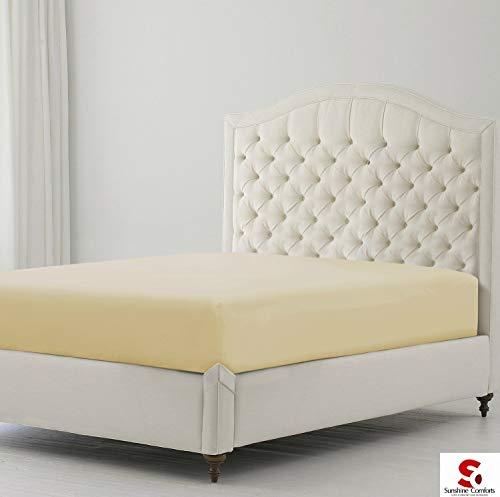 Bügelfreies Bettlaken,Perkal mit Fadenzahl 180, erhältlich in 14Farben und allen Größen, mokka, Pair Pillow