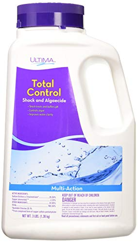 Ultima 24726 Total Control Blended Shock and Algaecide for Swimming Pools, 3-Pounds