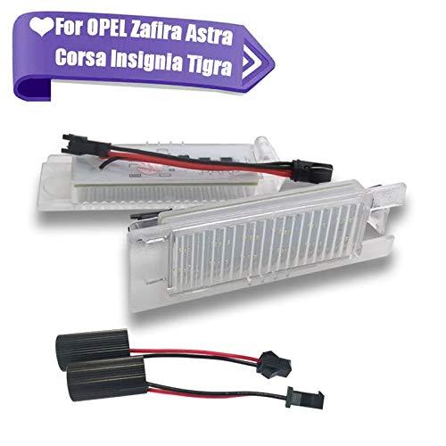 SUJIE Luces de matrícula de Coche 1pc LED Número de Licencia Lámparas Luces de Placa Compatible con Opel Astra H J Corsa C D Insignia Tigra B Twintop Vectra C Zafira B OPC Impermeable