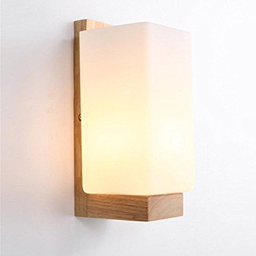 Luniquz Wandleuchte WandLampe Holz für Wohnzimmer Schlafzimmer Lichter Lampen Korridor Wandbeleuchtung Nachtlicht