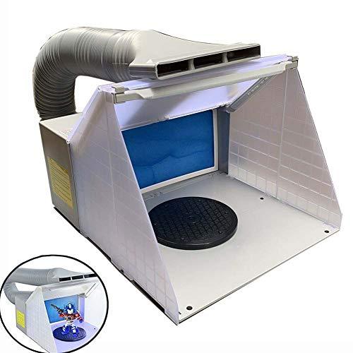 TABODD Tragbare Hobby Airbrush Lackierkabine Kit Abgasfilter Extractor Set mit 3 LED Light CE-Zertifikat, Absaugvorrichtung Filter Absauganlage für Airbrush-Arbeiten Modellbau