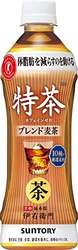 [トクホ]サントリー 伊右衛門 特茶 カフェインゼロ お茶 500ml×24本