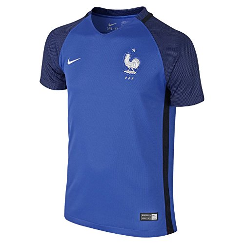 Nike Kid's France Home Stadium Soccer Jersey (Youth X-Large) Blue