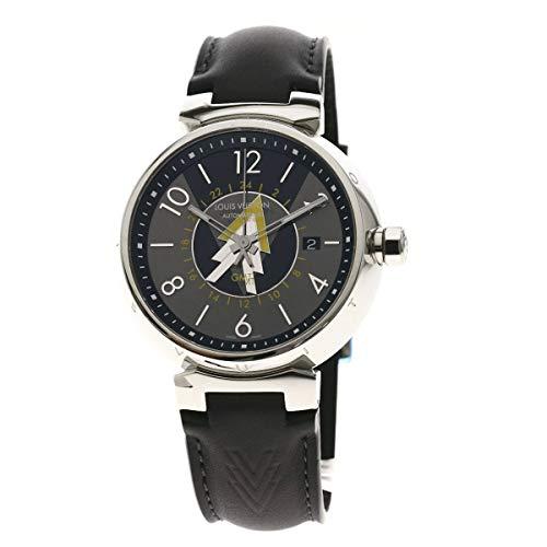 [ルイヴィトン]タンブールGMT Q1D31 腕時計 ステンレススチール/革 メンズ (中古)