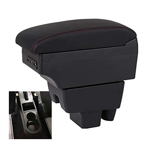 QCYSTBTG Caja de reposabrazos de Coche, Caja de Almacenamiento Central para Skoda Rapid, reacondicionamiento de reposabrazos para Volkswagen Polo 2020, Accesorios de Coche USB Interior