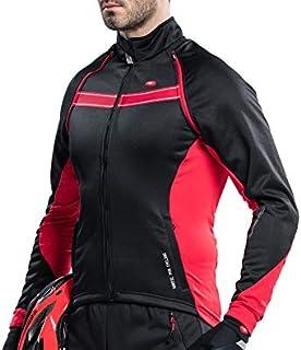 c4d462559 Santic Men s Cycling Jacket Biking Winter Coat Windproof Outdoor Sports Ski  Snow Jacket Red