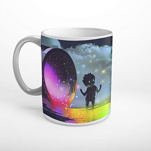 Stufffactory Farbeimer Regenbogenfarben Kind mystisch Fantasy Tasse Spruch Motiv Fototasse Kaffeebecher T1036