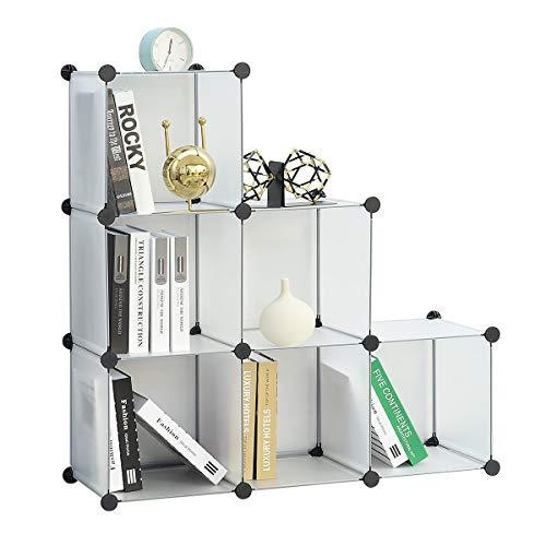 BRIAN & DANY Scaffale Modulare a 6 Cubi, Scaffali Cubi a Scompartimenti, 93 x 31 x 93 cm, Bianco