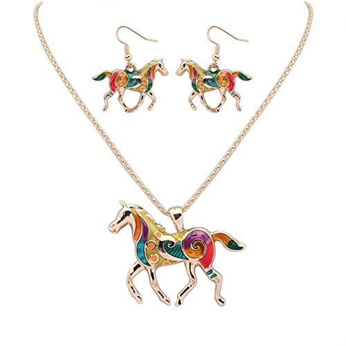 LHXMY Mooie Goud/Zilver Multi kleuren Ketting Women'S Animal Ketting Sieraden