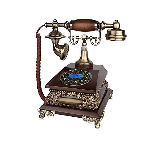 WYJW vaste telefoon, Europese retro-telefoon, vaste inrichting voor de pers met nummering + dubbele bel mechanisch en elektronisch (bellen) (kleur: