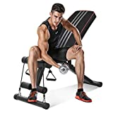 Zagzog Adjustable Weight Bench Gym Training Multiuse Exercise Workout Bench Home 330lbs Capacity Lifting Fitness Bench Press Incline Decline Flat