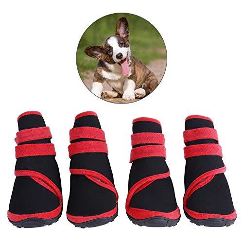 Mumusuki Beschermende Huisdier Hond Laarzen Warm Waterdicht Wasbaar Herbruikbare Anti-Slip Puppy Winter Schoenen 4 Stks/set