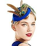Coucoland Chapeau bibi à plumes pour femme - Style années 1920 -...