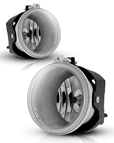 AUTOWIKI Fog Lights For 05-09 Dodge Dakota/ 07-09 Dodge Durango/ 06-10 Jeep Commander/ 05-10 Jeep Grand Cherokee With Clear Lens 2PCS